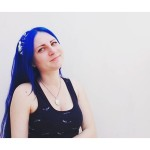 My favorite shade of blue  #blue #bluehair #bluehairedgirl #dyedhair #синиеволосы