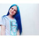💙 #blue #bluehairedgirl #bluehair #dyedgirls #dyedhair #синиеволосы
